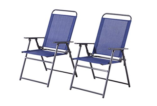 Backyard Classics 2-Piece Folding Chair Set with Armrests