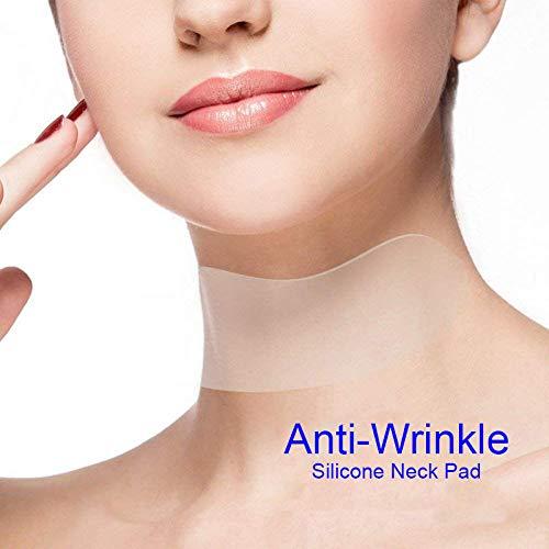 Almohadilla para el cuello reutilizable antiarrugas, silicona transparente, antimicroranuras, antiarrugas y antiarrugas WMFL