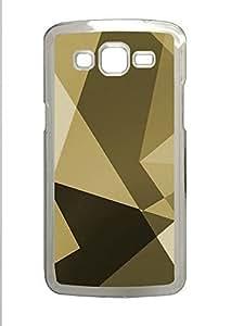 Samsung 2 7106 Case Gold Shapes PC Samsung 2 7106 Case Cover Transparent