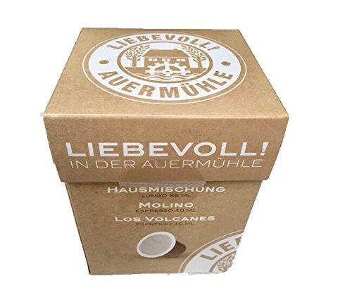 """BIO Nespresso® kompatible Kaffeekapseln, 20 Stück , 100% kompostierbar, Liebevoll! """"Hausmischung"""" LUNGO ESPRESSO (ausgezeichnet mit der Silbermedaille der Deutschen Röstergilde e.V.)"""