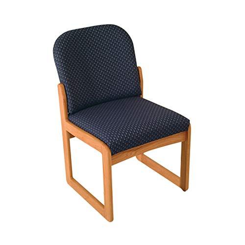 Prairie Guest Chair - Dakota Wave Prairie Sled Base Armless Chair in Light Oak - Green Vinyl