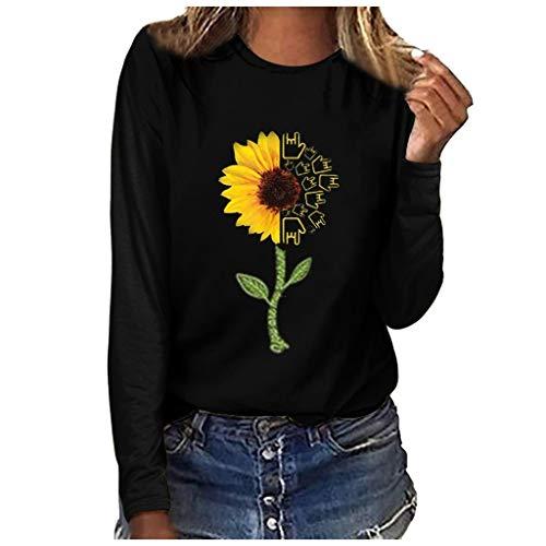 Aniywn Women Summer Basic T-Shirt Plus Size Floral Print Short Sleeved Tunic Pullover Sweatshirt Blouse Tops