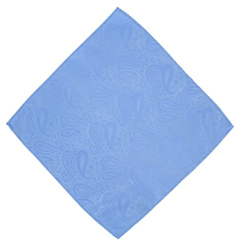 Bow Blue Set amp; Pocket Paisley Square Tie Tonal Light HqxPfaq