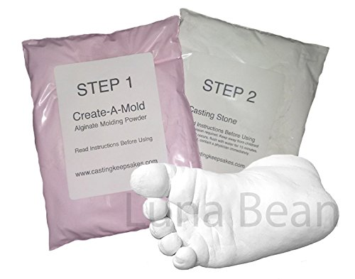 REFILL POWDERS - for Luna Bean INFANT HAND or FOOT 3D Life Casting Mold Kit (Sculptural Urn)