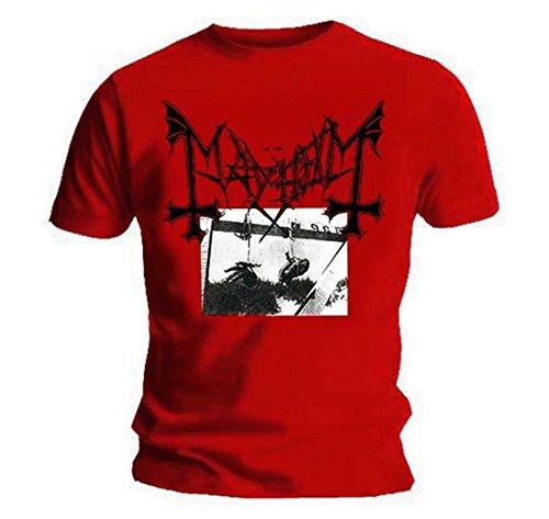 T-Shirt Death Metal MAYHEM DEATHCRUSH, Schwarz, alle Größen, Rot