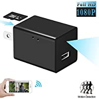 MinGz HD 1080P WIFI IP Hidden Camera, WiFi Hidden Spy Camera Motion Detection USB Wall Charger Nanny Spy Camera Remote View