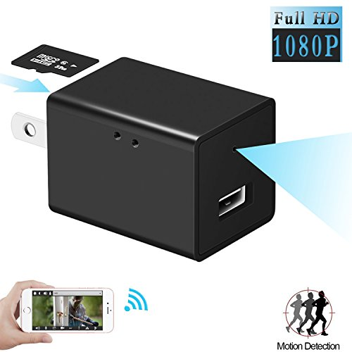 MinGz HD 1080P WIFI IP Hidden Camera, WiFi Hidden Spy Camera Motion Detection USB Wall Charger Nanny Spy Camera Remote View