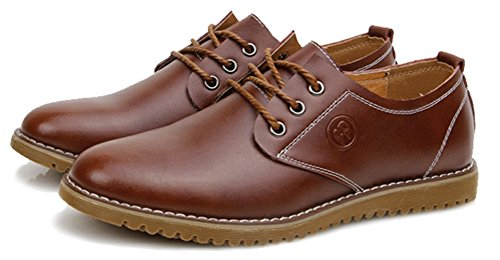 Diffyou Mens Classic Lace Up Low Cut Formal Leather Oxfords Shoes Brown 2UImx5CpfP