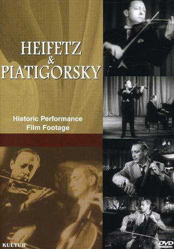 Heifetz & Piatigorsky - Historic Performance Film Footage