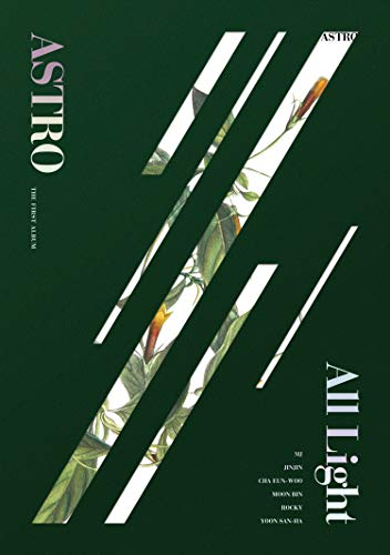 Astro 1ST Album [All Light] (Green Ver.) - Pack of CD, Photobook, Photocard, Folded Poster with Pre Order Benefit, Extra Decorative Sticker Set, Photocard