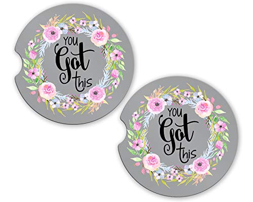Car Coasters - Absorbent Sandstone - You Got This (SET of 2) - 2.56