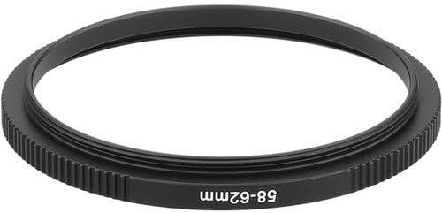 6 Pack Sensei PRO 58mm Lens to 62mm Filter Aluminum Step-Up Ring