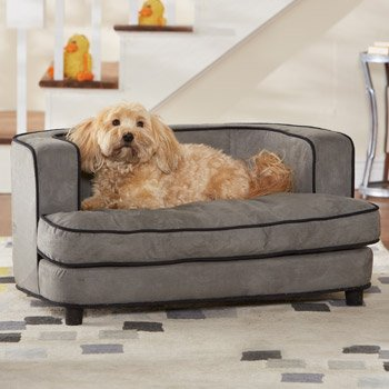 "Enchanted Home Pet Cliff Bed Ultra Plush Pet Bed, 34.5"" L by 22.5"" W, Grey by Enchanted Home Pet"