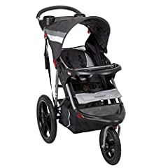 The Baby Trend Range Jogger switches from running to resting in no time! Locks and unlocks quickly and easily. Safe and secure when you've stopped; easy to maneuver when you're out for a jog. Multi-position, reclining padded seat and fully ad...