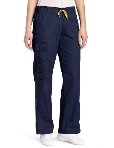 WonderWink Women's Scrubs Mink Featherweight Cargo Roll Up Pant, Navy, Large