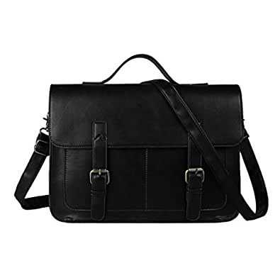 Ecosusi Men PU Leather Briefcase Laptop Messenger Bags