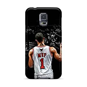 PhilHolmes Samsung Galaxy S5 Shock Absorption Hard Phone Cover Custom Colorful Derrick Rose Series [IZB6014cXQr]