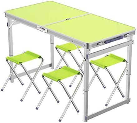 OUUCL Mesa portátil Plegable Mesa for Acampar con Orificio for ...