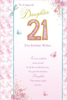 21st Birthday Card For A Daughter