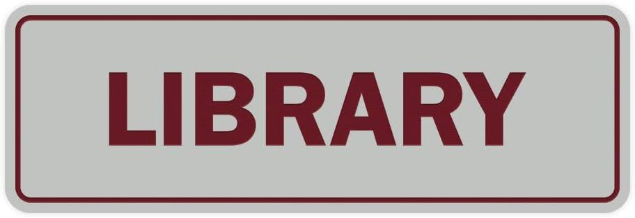 Signs ByLITA Standard Library Sign Medium Navy Blue//Gold