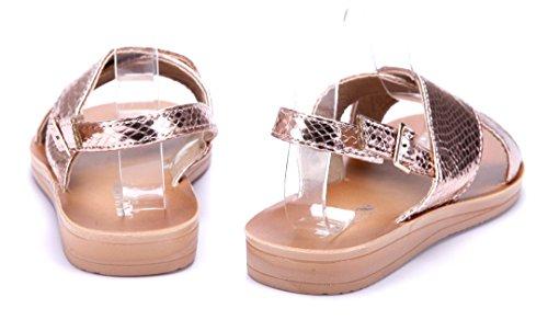 72c8ce88ea84a4 Schuhtempel24 Damen Schuhe Sandalen Sandaletten Flach Rosa ...