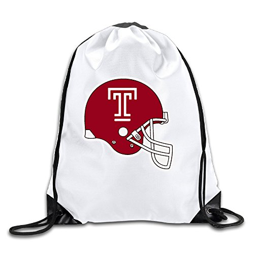 Fengziya Helmet T Logo Drawstring Backpack Sack Bag