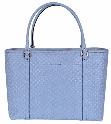 Gucci Women's Leather Micro GG Guccissima Joy Purse Handbag Tote (449647/Mineral Blue)