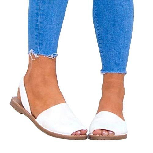 Zehentrenner Sandalen Minetom Flip Retro Toe Weiß Strandschuhe Sommer Frauen Flop Damen Peep Flache Schuhe Sommerschuhe Übergröße Mode Badesandale X44qPBrw