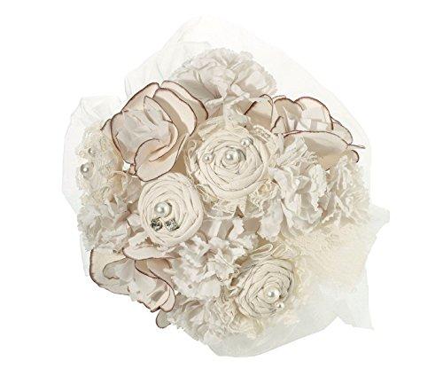 Cheap Lillian Rose Rustic Country Burlap Wedding Bouquet