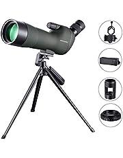 USCAMEL 20-60x60 Cannocchiale Professionale Telescopio , Clip Fotocamera Telefono Cellulare e Kit di Fotografia Canno, Adatto al Bird Watching