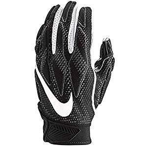 Nike Mens Superbad Sticky Magnigrip Receiver Football Gloves - Black White - XX-Large ...