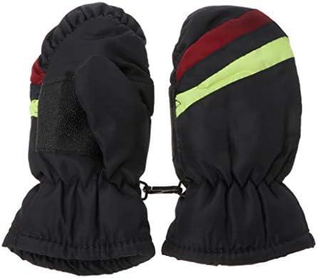 手袋,Dabixx 2-5y赤ちゃんミトン冬子供男の子女の子屋外暖かい防水防風 - 濃紺