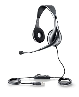 Jabra UC VOICE 150 MS Duo Lync Optimized Corded Headset for Softphone by Jabra