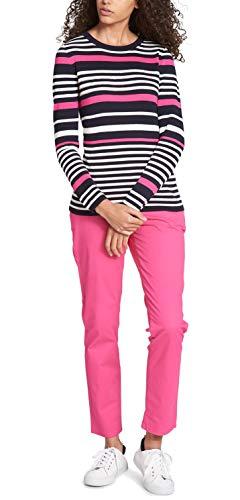 Tommy Hilfiger Women's Cotton Sequined-Stripe Sweater (XL, Cerise Combo)