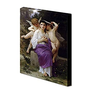 The Heart's Awakening by Adolphe William Bouguereau Giclee Canvas Prints Wrapped Gallery Wall Art | Stretched and Framed Ready to Hang - 36