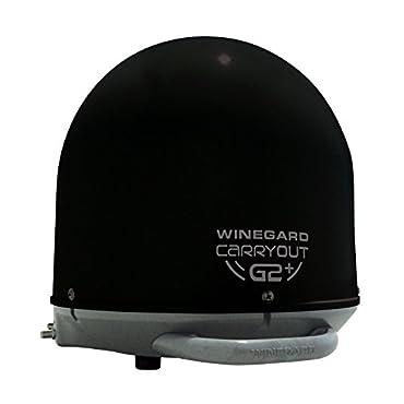 Winegard GM-6035 Carryout G2+ Automatic Portable Satellite TV Antenna with Power Inserter (RV Satellite for DIRECTV, DISH, BellTV)