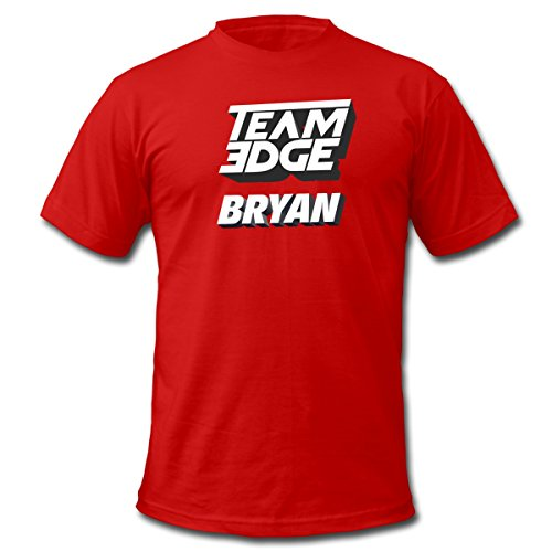 Spreadshirt Team Edge Logo Bryan Men's Fine Jersey T-Shirt, S, red (Logo Team Player)