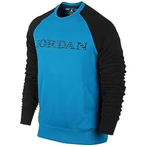Nike Men's Air Jordan Retro 10 Accomplished Crew Sweater XX-Large Vivid Blue
