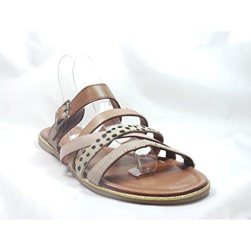 Jenny - Sandalias de vestir para mujer marrón canela canela