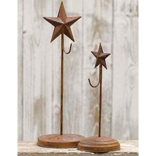 Heart of America Star Wreath Stands - Set of 2