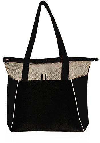 Multi Purpose Tote Bag With Front Pocket by Sacko (Black)