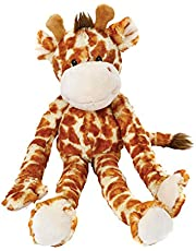 Multipet Swingin Safari Monkey Plush Dog Toy with Extra Long Arms and Legs with Squeakers, 22-Inch, Large