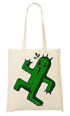 CP Funny Running Cactus Bolso De Mano Bolsa De La Compra