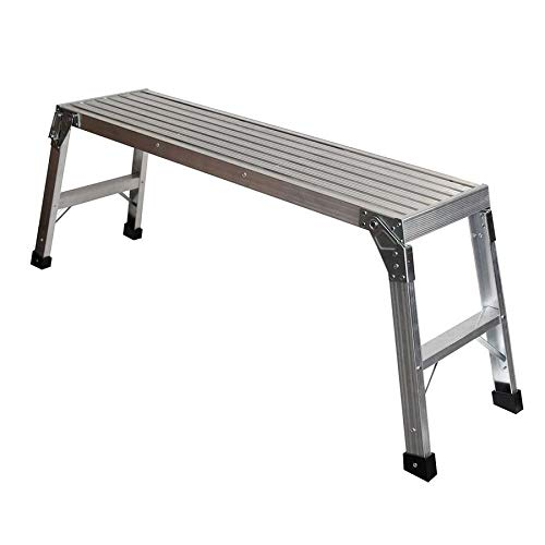 Aluminum Work Platform - Werner 1.67-ft x 3.75-ft x 12-in 250 lbs.-lb. Aluminum Work Platform