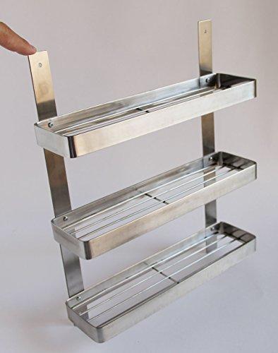 stainless steel kitchen spice shelf rack kitchen organizer. Black Bedroom Furniture Sets. Home Design Ideas