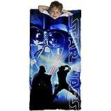 Star Wars Classic Slumber Bag, Bonus Backpack with Straps, Darth Vader, Light Saber, Blue