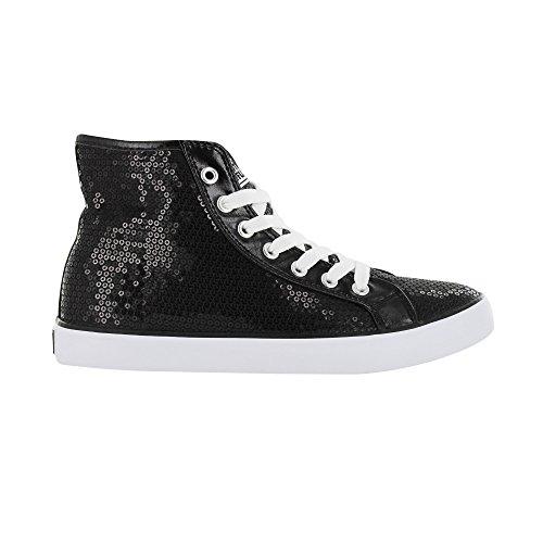 Gotta Flurt Hi Disco II Lace Up Top Sneaker Black jyi35l0jB