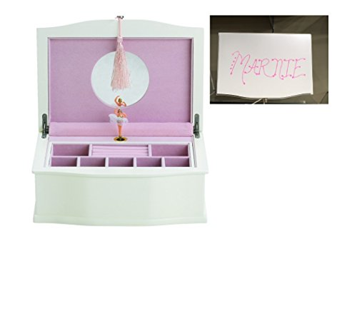 Reed & Barton Ballerina Jewelry Box Chest - Personalized (Hand Painted Name) Marnie