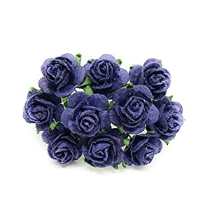 """1/2"""" Navy Blue Mulberry Paper Flowers, Paper Roses, Blue Flowers, Floral Crown Flowers, DIY Wedding, Wedding Table Flowers, Navy Blue Wedding, Artificial Flowers, 50 Pieces 11"""