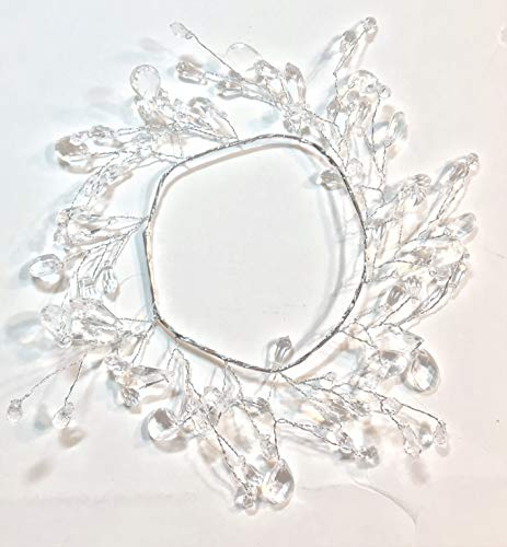 Elegant Blooms & Things Clear Faceted Faux Crystal Candle Ring Center Diameter 3.5